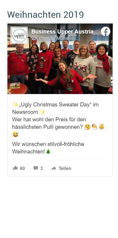 Foto mit Personen in lustigen Weihnachtspullis