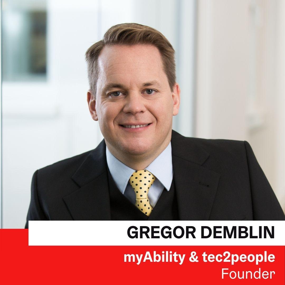 Mag. Gregor Demblin | myAbility & tec2people © myAbility/Renée Del Missier