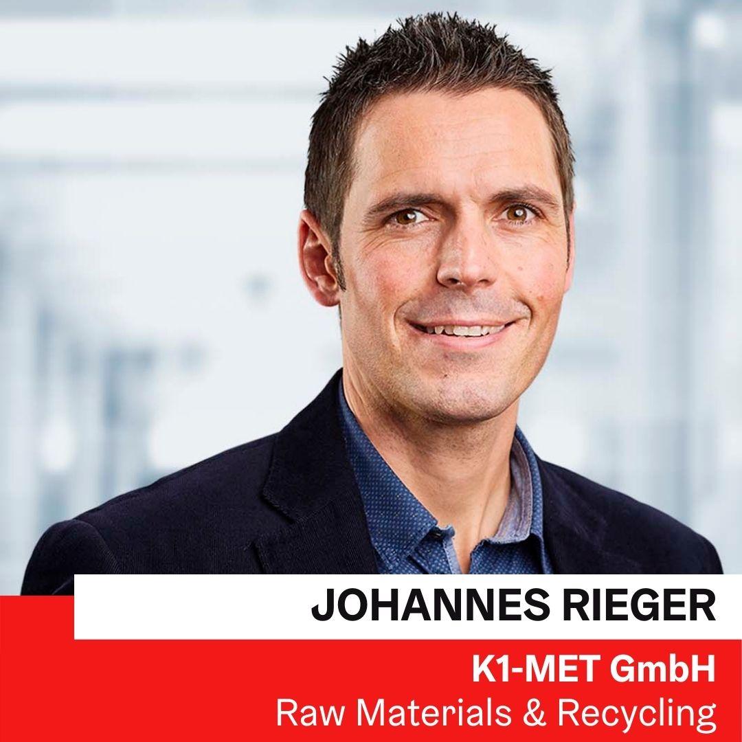 DI Dr.mont. Johannes Rieger | K1-MET GmbH ©K1-MET GmbH